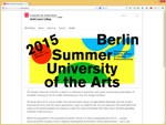 UdK Berlin Summer University of the Arts, Berlin 2014